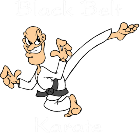 Nadruk karate Black Belt