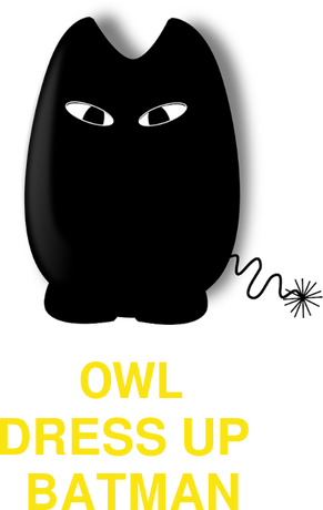 Nadruk owl dress up batman