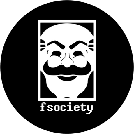 Nadruk Mr. Robot // fsociety