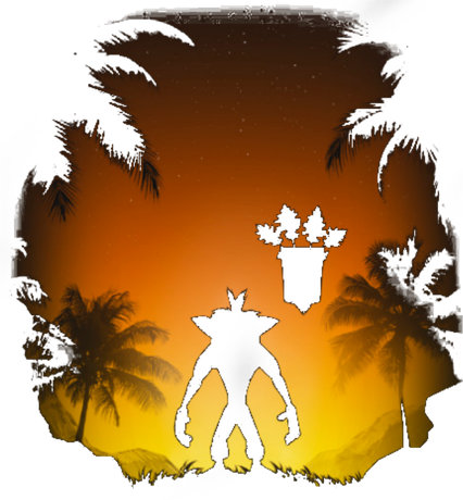 Nadruk - Crash Bandicoot - Aku Aku