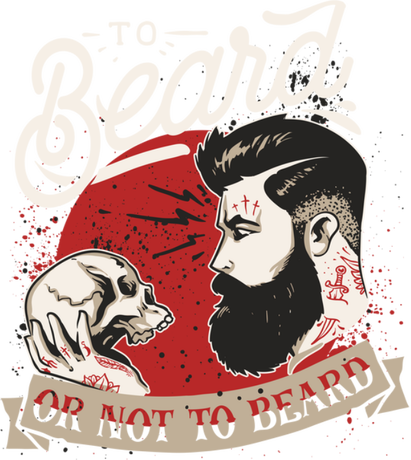 Nadruk To beard or not to beard