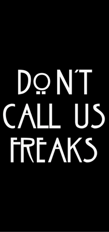 Nadruk Don't Call Us Freaks