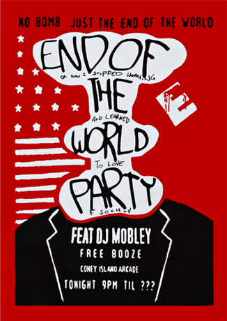 Nadruk Mr. Robot // the end of the world party