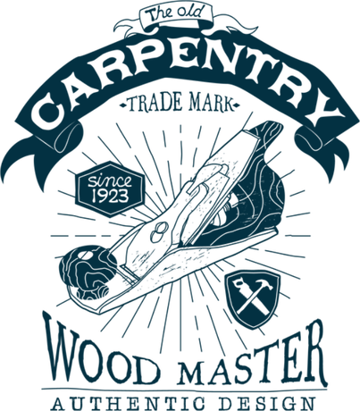 Nadruk Vintage Carpentry Badge 05