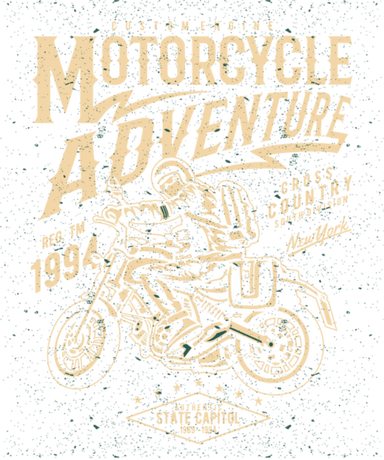 Nadruk Motorcycle Adventure