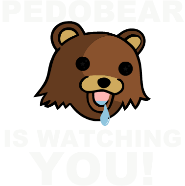 Nadruk Pedobear is watching you