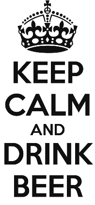 Nadruk KEEP CALM AND DRINK BEER