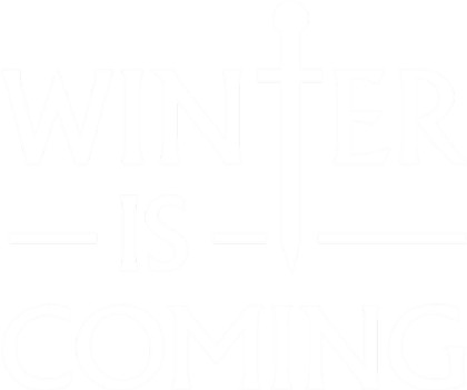 Nadruk Winter is Coming
