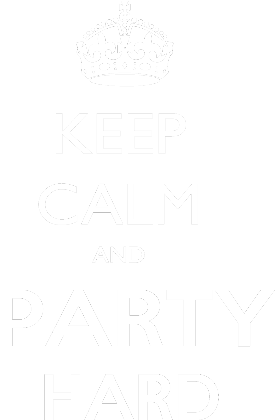 Nadruk Keep calm and Party Hard