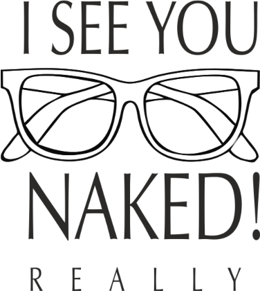 Nadruk I SEE YOU NAKED