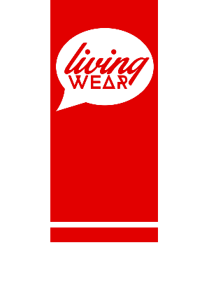 Nadruk Living Wear Red V-Neck