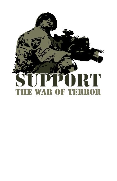 Nadruk Support the war of terror