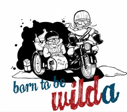 Nadruk Born to be wilda