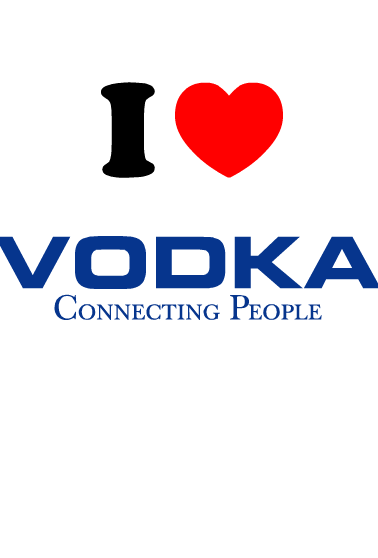 Nadruk I Love Vodka
