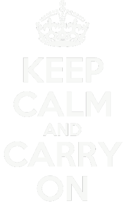 Nadruk KEEP CALM AND CARRY ON