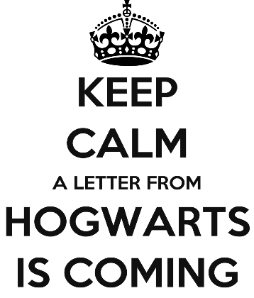 Nadruk KEEP CALM A LETTER FROM HOGWARTS IS COMING