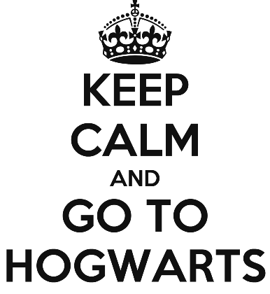 Nadruk KEEP CALM AND GO TO HOGWARTS