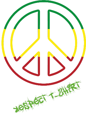 Nadruk Respect T-Shirt Cool Rasta