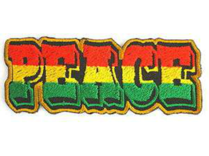 Nadruk Rasta Peace Respect T-Shirt