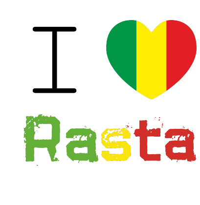 Nadruk I Love Rasta Respect T-Shirt