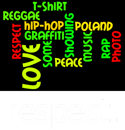Nadruk respect. Cloud WERSJA 1 Respect T-Shirt