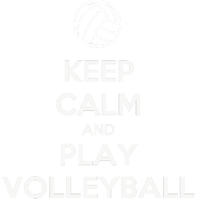 Nadruk KEEP CALM AND PLAY VOLLEYBALL