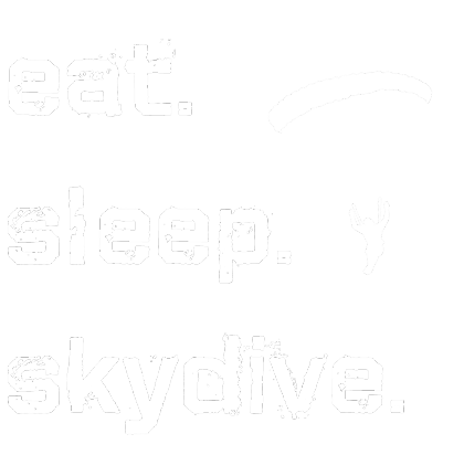 Nadruk Eat Sleep Skydive (blue/white)