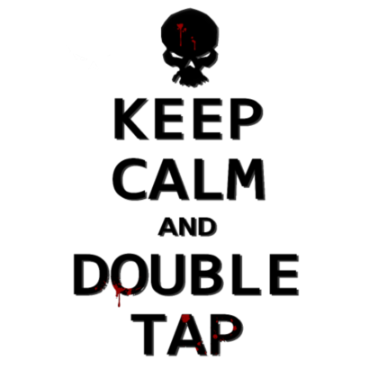 Nadruk Keep Calm and Double Tap