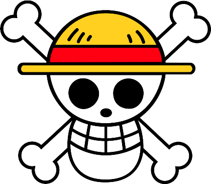 Nadruk One Piece- Straw Hat logo