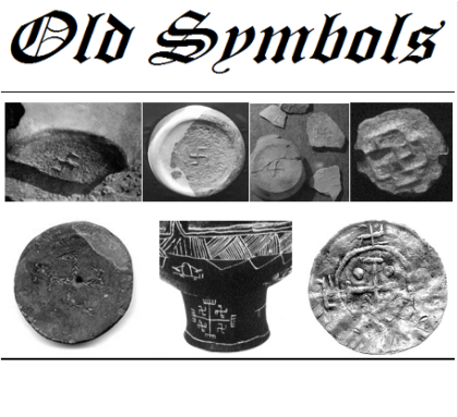Nadruk Luxury Style Old Symbols 01