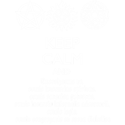 Nadruk Keep Calm and Exorcizamus