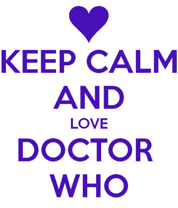 Nadruk Keep Calm and Love Doctor Who