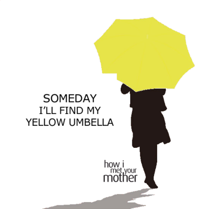 Nadruk Yellow Umbrella