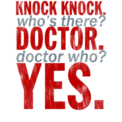 Nadruk Knock Knock Doctor Who