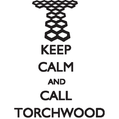Nadruk Keep Calm and Call Torchwood