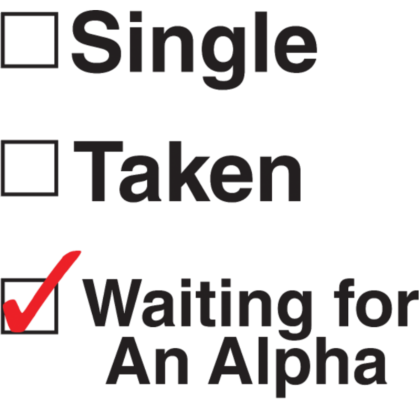 Nadruk Waiting for an Alpha