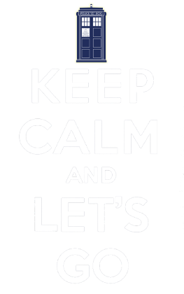Nadruk Keep Calm and Let's Go