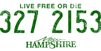 Nadruk New Hampshire - Live Free or Die