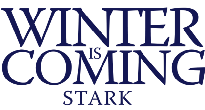 Nadruk Winter is Coming Stark
