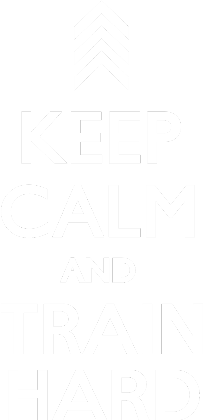 Nadruk Keep Calm Train Hard