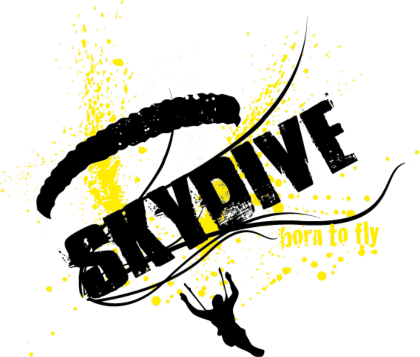 Nadruk męska - Born to fly (yellow)