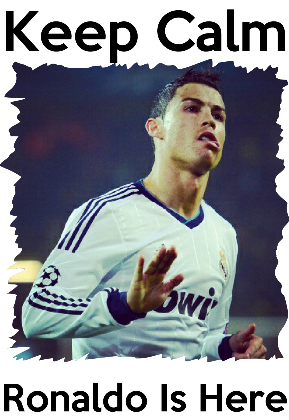Nadruk Real Madryt - Keep Calm Ronaldo