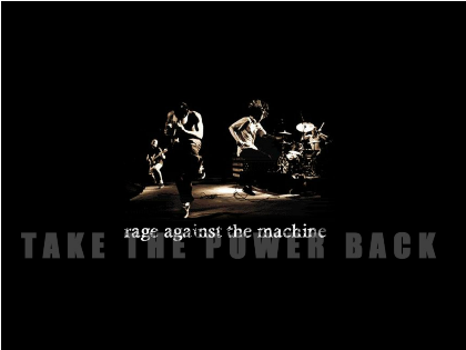 Nadruk RAGE AGAINST THE MACHINE