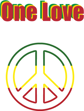 Nadruk REGGAE-ONE LOVE
