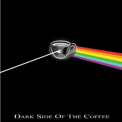 Nadruk Dark side the coffee