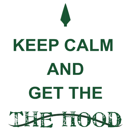 Nadruk Keep Calm and Get The Hood